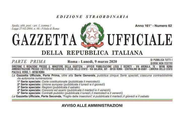 Coronavirus: pubblicato in Gazzetta ufficiale il decreto #Iorestoacasa