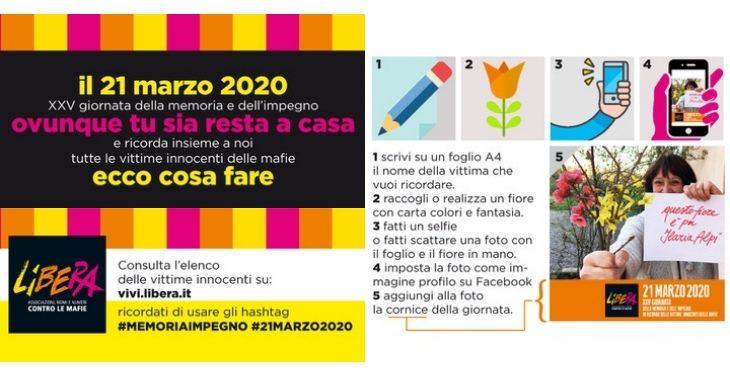 Il 21 marzo è la Giornata in ricordo delle vittime di mafia, l'idea «social» dell'associazione Libera
