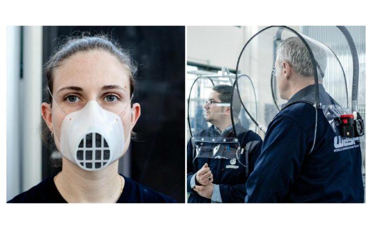 Mascherine e caschi speciali stampati in 3D per contrastare il diffondersi del Coronavirus