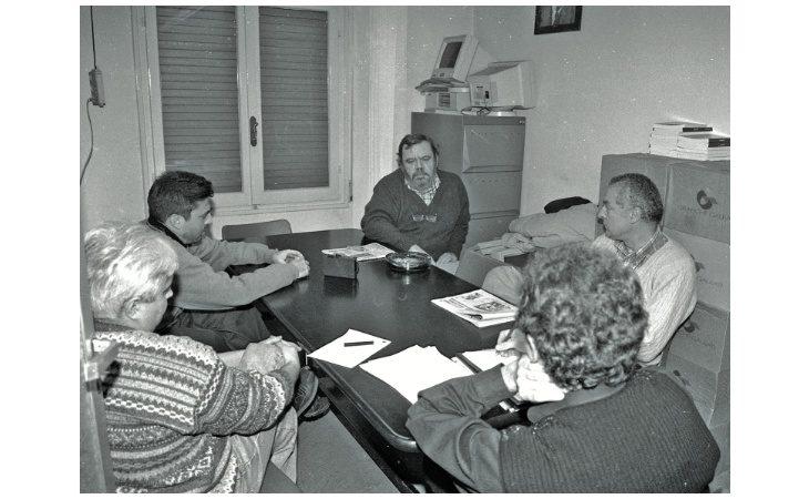 Ricordi del gennaio 1998, il giornalista Gianni Mura nella redazione di «sabato sera» e poi a cena