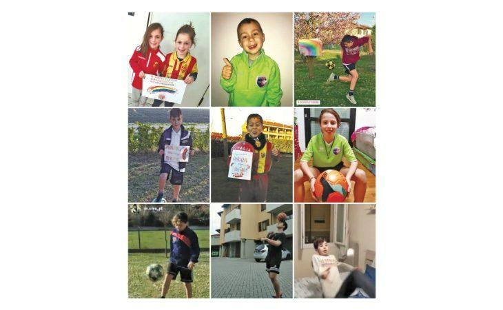 Contest sui «social»,  evoluzioni in salotto per i baby calciatori