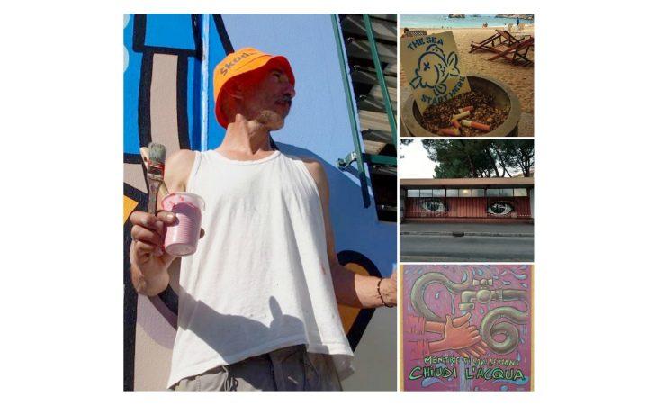 Sbarca in Thailandia la campagna dell'artista imolese Andrea «Fungo» Pelliconi contro i mozziconi