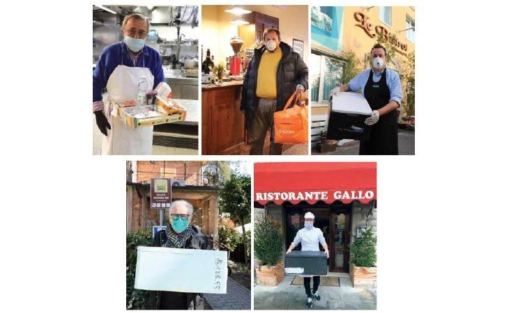 In tempi di Coronavirus gli chef del territorio non spengono i fornelli, ma servono i clienti a domicilio