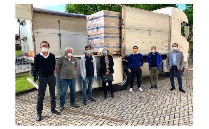 Coronavirus, la Barilla dona 360 kg di pasta al Comune di Medicina grazie alla ditta Rambaldi Trasporti