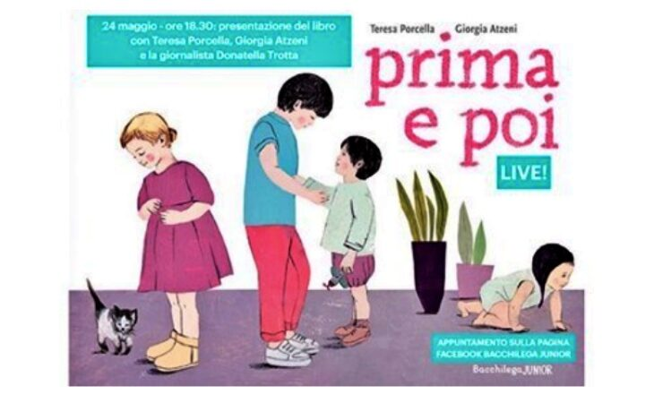 Presentazione «social» per il libro «Prima e poi», la novità della primavera 2020 di Bacchilega Junior