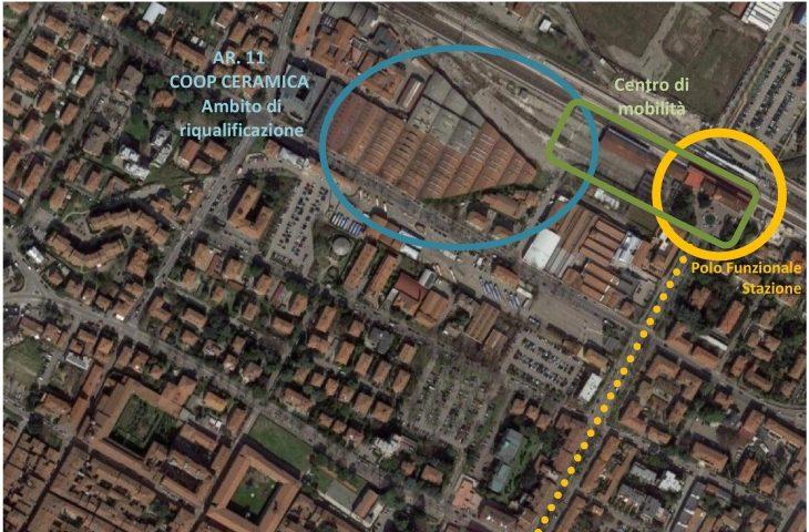 Riqualificazione ex Coop Ceramica e stazione di Imola, approvato l'accordo Città metropolitana-Comune