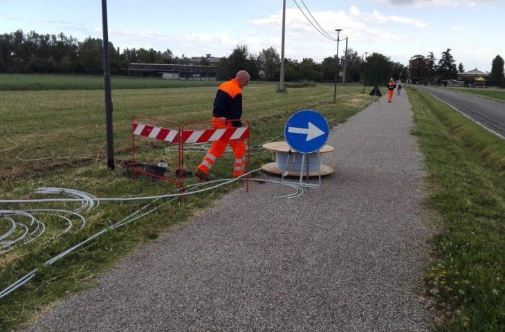 A Ozzano ripartono i cantieri per la fibra ottica