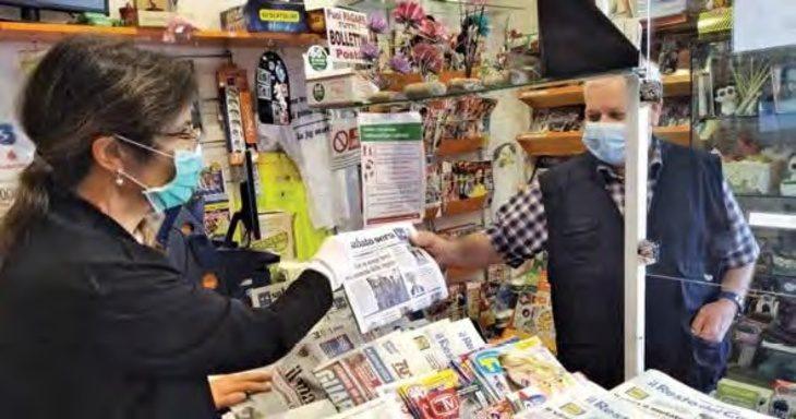 «Un salto in edicola» va a Castel del Rio dove Luca e Iliana vendono giornali sognando la Spagna