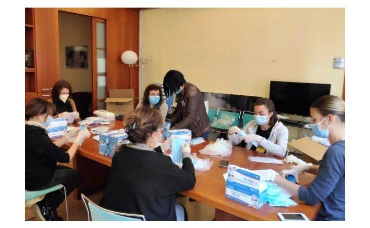 Coronavirus, iniziata a Castello la distribuzione delle mascherine alle attività economiche