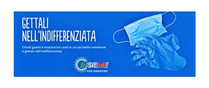 «Gettali nell'indifferenziata», la campagna di Hera per il corretto smaltimento di guanti e mascherine