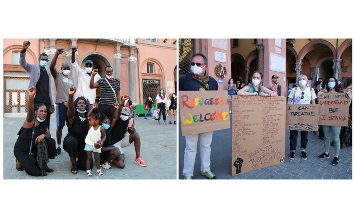 A Imola il flash mob di solidarietà al movimento antirazzista «Black Lives Matter». IL VIDEO