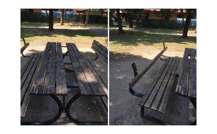 Ancora atti vandalici nei parchi di Medicina, danneggiati arredi nei giardini di via Oberdan