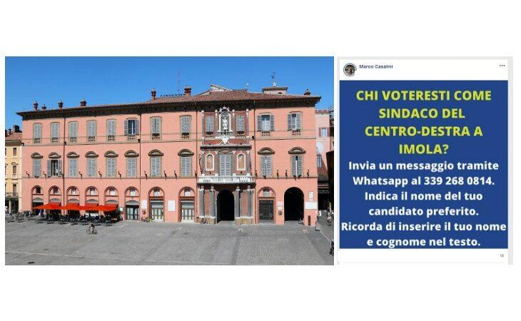 Elezioni comunali a Imola, anche il telefonino serve per trovare il candidato del centrodestra
