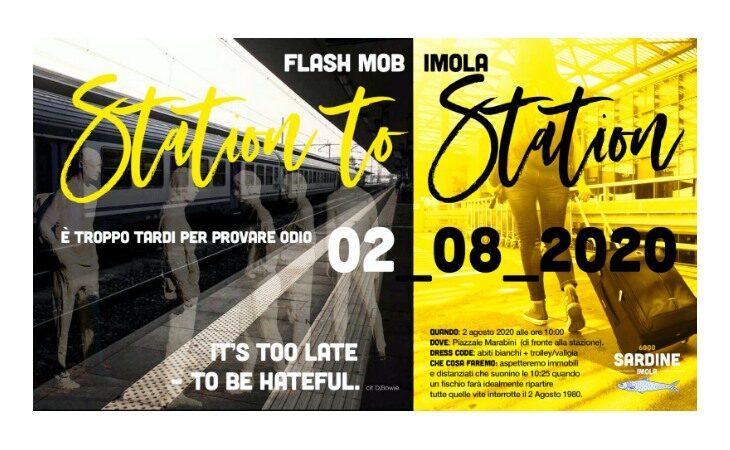 Flash mob delle 6.000 Sardine Imola per ricordare il 2 Agosto 1980