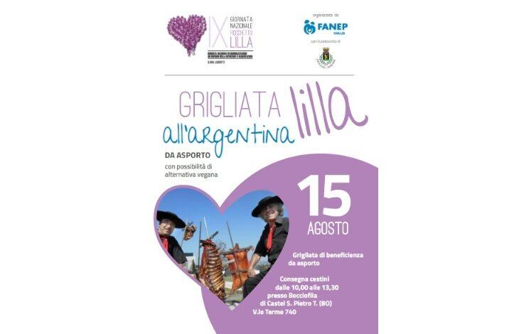 A Castel San Pietro Ferragosto solidale con la «Grigliata lilla all'argentina da asporto» della Fanep