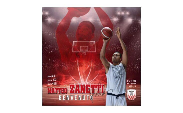 Basket serie B, l'Andrea Costa chiude il mercato con il giovane Matteo Zanetti