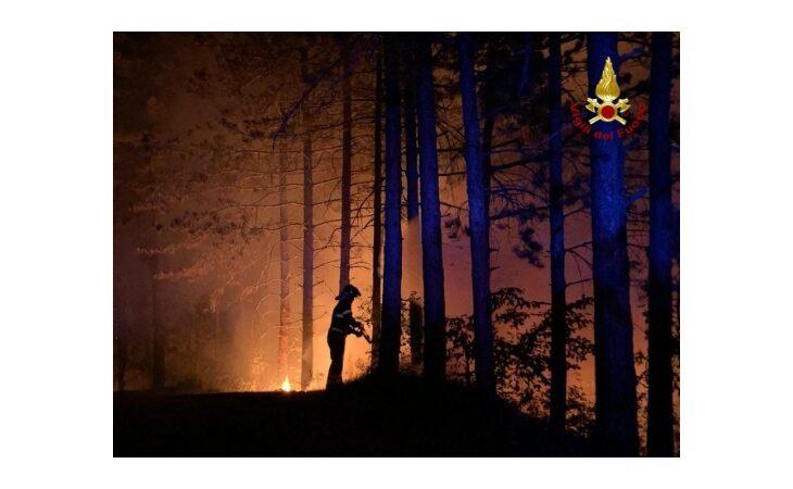 Incendio nel bosco tra Casola Valsenio e Fontanelice, il rogo ha ripreso forza e servirà ancora l'appoggio aereo