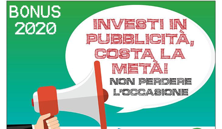 Bonus pubblicità 2020, con il credito di imposta al 50% farsi conoscere costa la metà, le domande dall'1 settembre