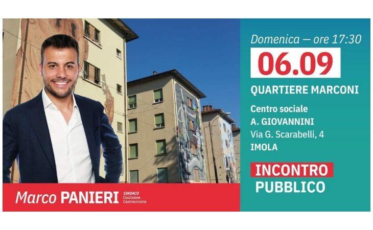 #Imola2020, incontro pubblico nel quartiere Marconi per il candidato Marco Panieri
