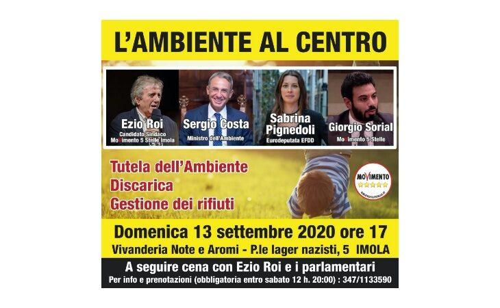#Imola2020, il candidato del M5S Ezio Roi incontra il Ministro dell'Ambiente Sergio Costa