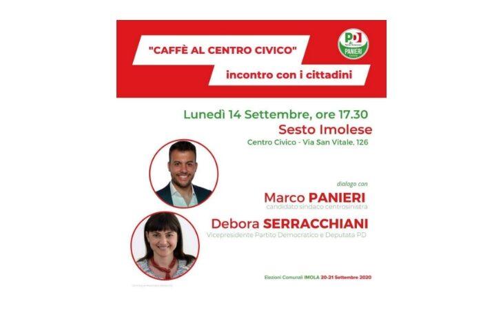 #Imola2020, la vicepresidente del Pd Debora Serracchiani a Sesto Imolese per il candidato Panieri
