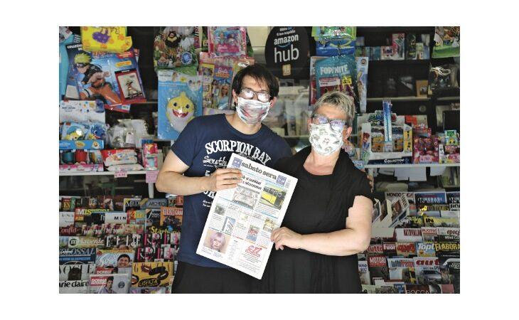 «Un salto in edicola» raggiunge l'attività di Andrea Cortini e sua mamma nel quartiere Campanella