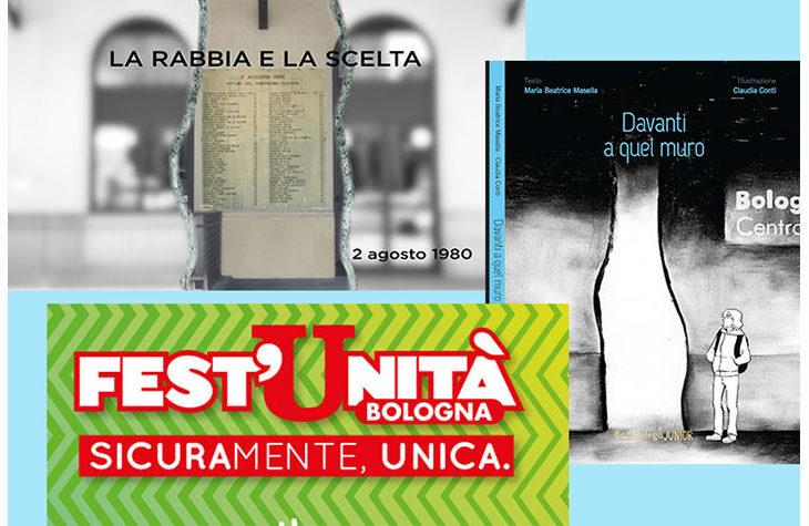 2 Agosto, il libro e il documentario della Coop. Bacchilega alla festa de l'Unità di Bologna con la coop. Cadiai, memoria e presente della città
