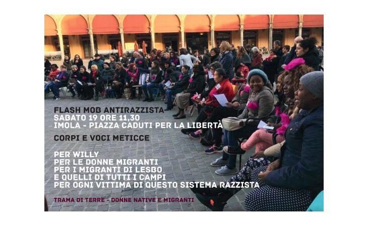 A Imola flash mob antirazzista promosso dall'associazione Trama di Terre in memoria di Willy