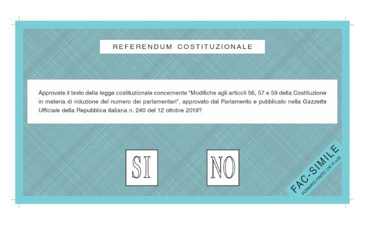 #Referendum2020, seggi aperti in tutti i comuni: «Sì» o «No» per confermare la riduzione dei parlamentari