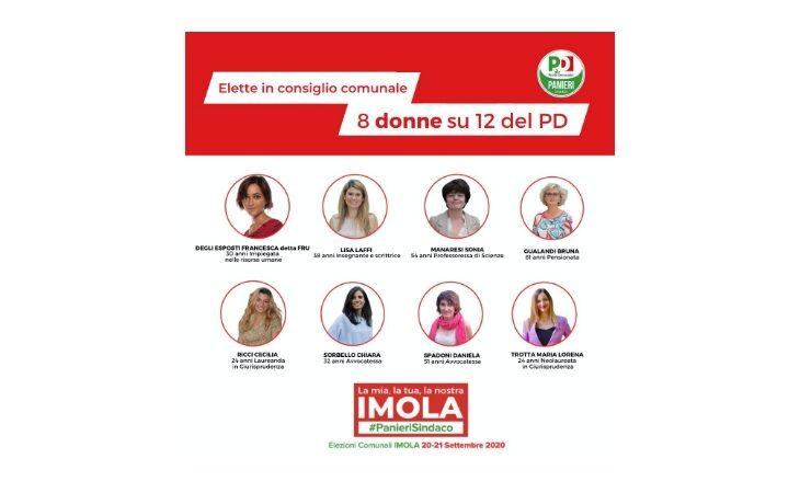 #Imola2020, in Consiglio comunale elette 8 donne su 12 del Pd. Francesca Marchetti: «Grande risultato»