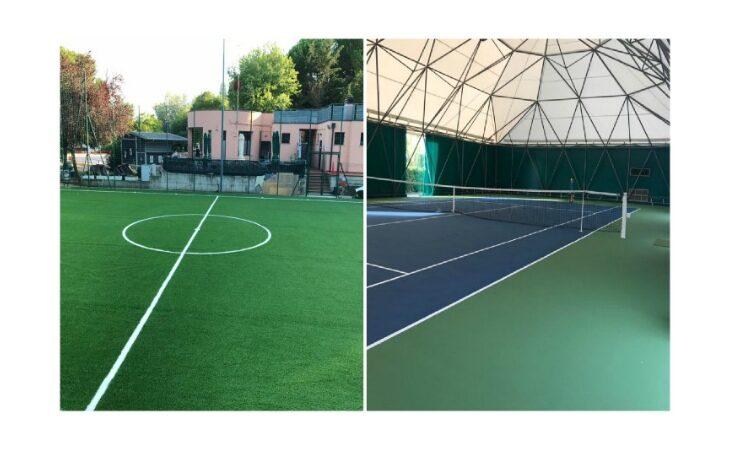 A Castello terminati i lavori di riqualificazione dei campi di calcio a 5 «Renzo Cerè» e del campo da tennis di Osteria Grande
