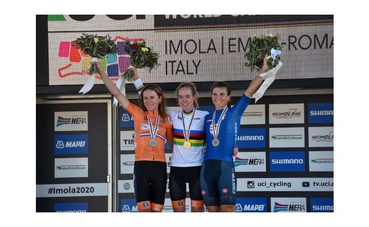 Mondiali di ciclismo «Imola 2020», dopo la crono l'olandese Anna van der Breggen concede il bis. Bronzo per l'azzurra Elisa Longo Borghini
