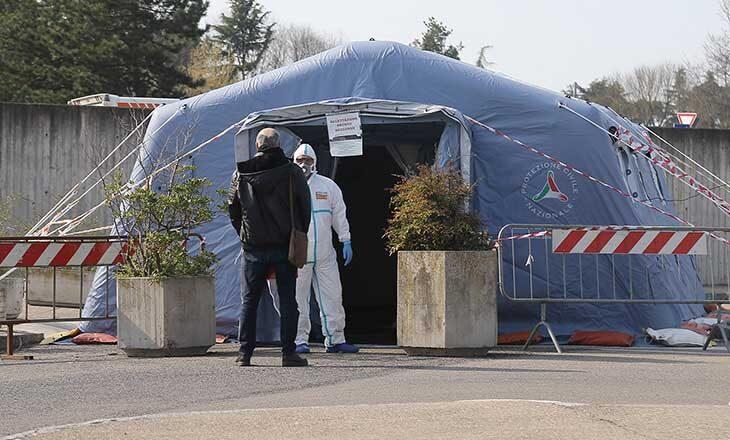 Coronavirus, riaperta la tenda esterna per l'accesso al Pronto soccorso. Buone notizie per le scuole Rodari e Valsalva
