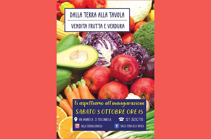 Dalla terra alla tavola, inagurazione del nuovo punto vendita di frutta e verdura di qualità a Toscanella di Dozza