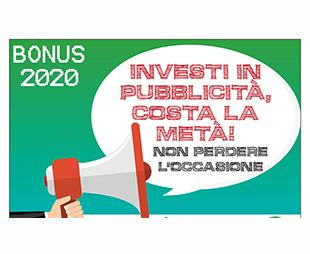 Bonus pubblicita 2020