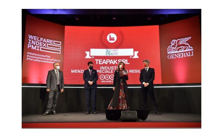 L'imolese TeaPak premiata a Roma dal premier Conte per il welfare aziendale e la resilienza al Covid