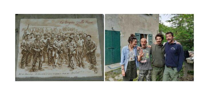 La Brigata Stella Rossa rivive nel murales di Piotr e Fungo