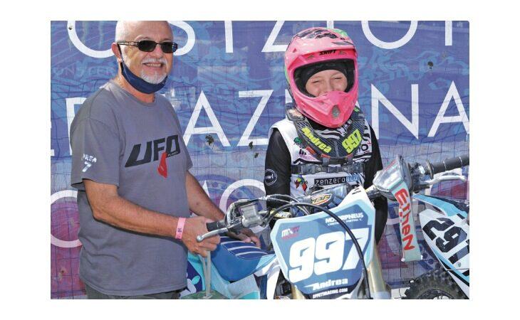 Motocross femminile,  la pilota castellana Andrea Giorgia in stato di… Grazia: «Voglio vincere il titolo regionale»