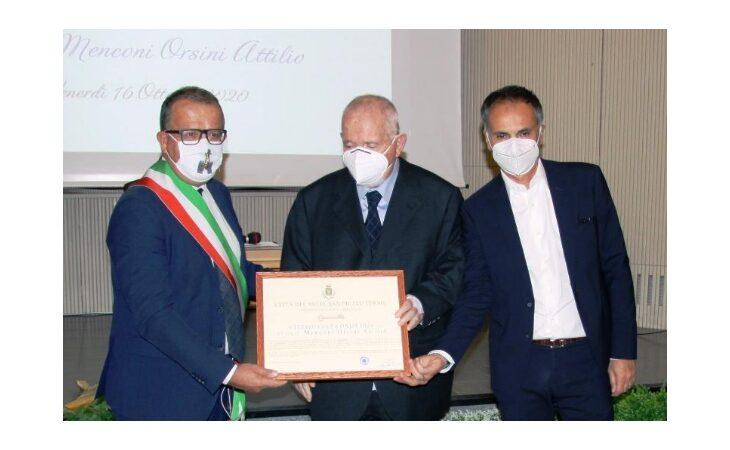 Al dottor Attilio Menconi Orsini la cittadinanza onoraria di Castel San Pietro