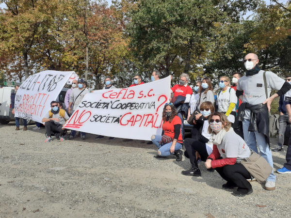 Cefla, la protesta dei lavoratori della divisione Shopfitting arriva all'autodromo