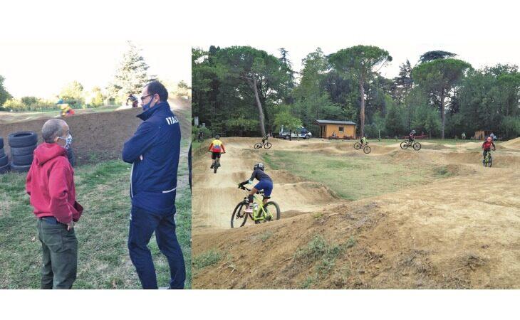 Mountain bike,  il c.t. azzurro Cassani elogia Calzoni e fa luce sul «pump track» di via Suore a Imola