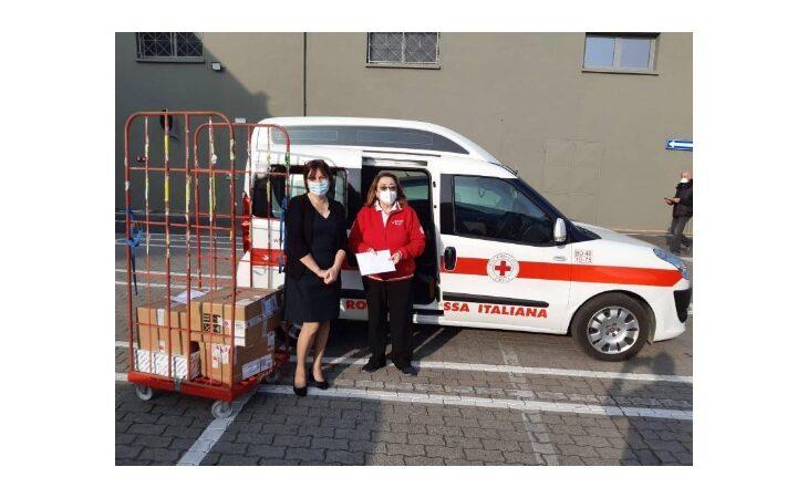 Coronavirus, materiale scolastico e mascherine in dono alla Croce Rossa di Imola