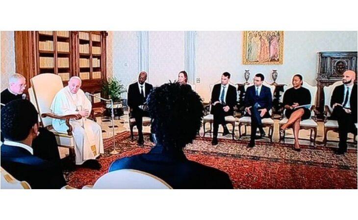 La Nba in visita da Papa Francesco per dire no al razzismo, tra loro anche il fotografo imolese Matteo Marchi