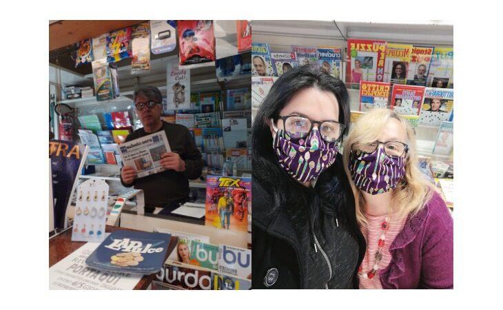 «Un salto in edicola», giornali a ritmo di «rock» nel chiosco Franzoni di Mercatale