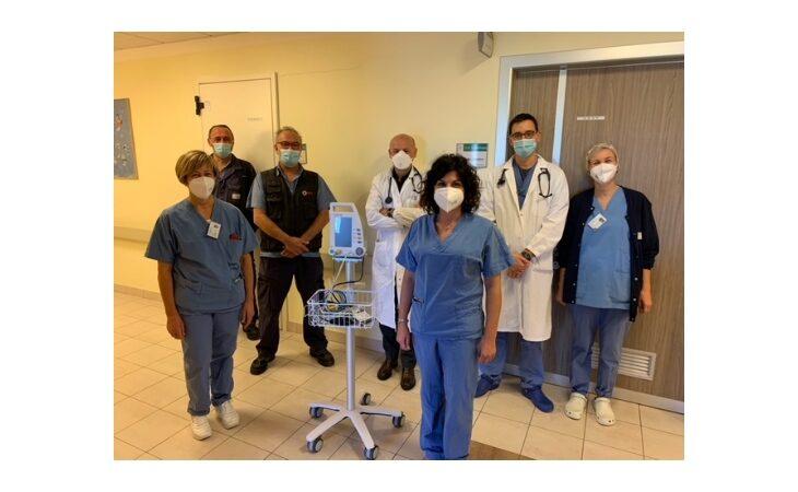 Gli amici e colleghi di Roberto Pelliconi donano un monitor parametrico alla cardiologia dell'Ausl di Imola