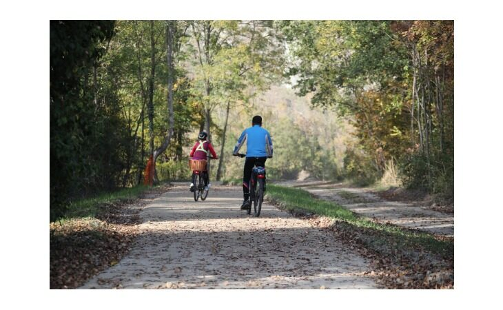 Alberi lungo il tracciato e una mappa per valorizzare Santerno e ciclopista