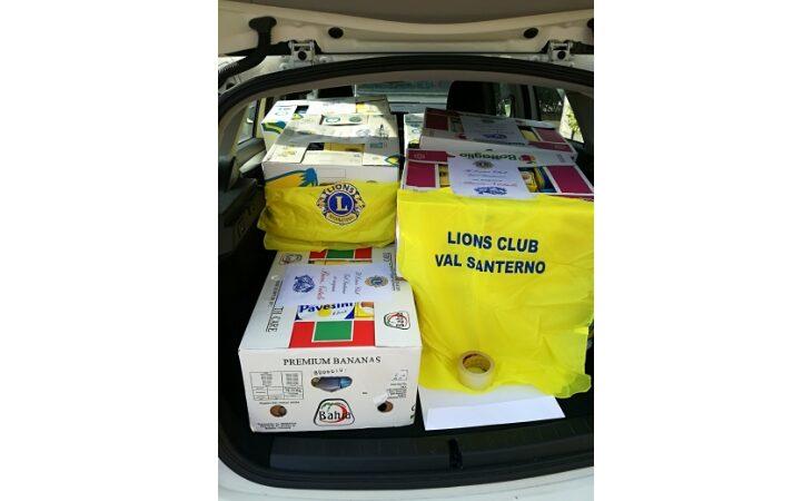 Il Lions Club Val Santerno in aiuto delle famiglie più bisognose della Vallata