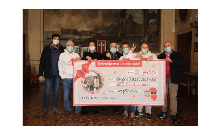 L'associazione App&Down di Natale Zero Pare fa un bel regalo da 2.700 euro alla Caritas di Imola