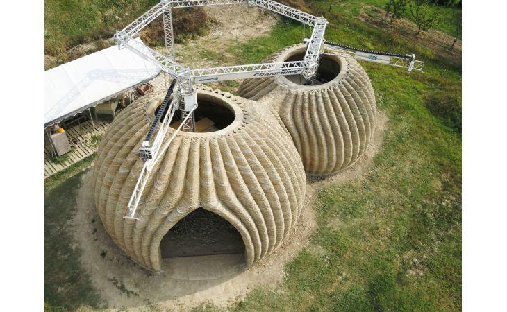Anche le imolesi Cefla e Imola Legno partner di Wasp nella realizzazione della prima casa in terra cruda stampata in 3D