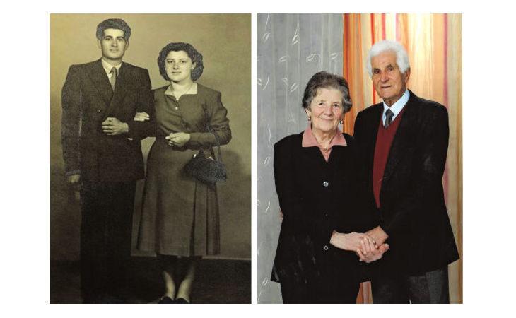 Domenico e Rina Gamberini, nozze di titanio per un amore che dura da 70 anni